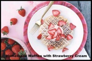 Waffles Mother's Day recipe