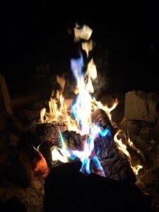 Washington glamping campfire