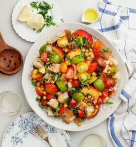 Tomato Peach Panzanella Recipe
