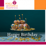 Birthday Cupcakes Gift Certificate
