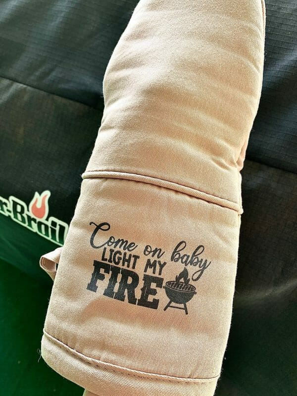 Oven Mitt Come on Baby Light My Fire